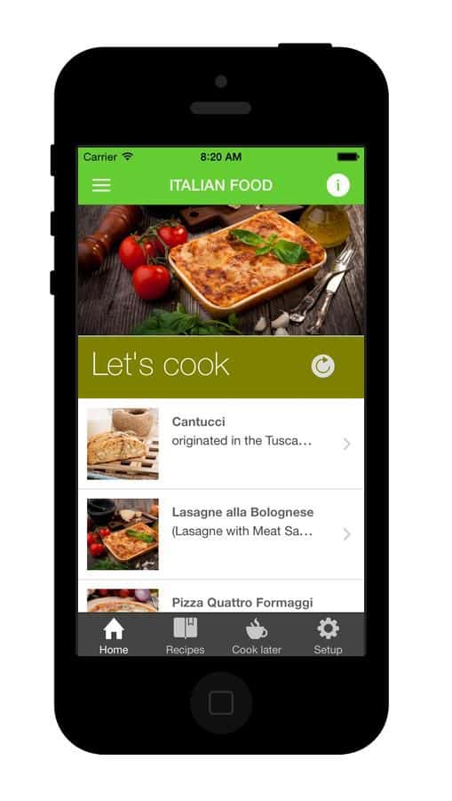 Food National Recipes Mobile App