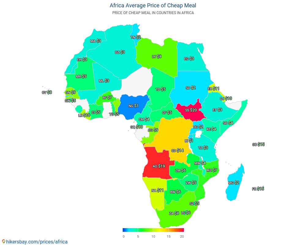 Africa - How much is a cheap meal in Africa ?