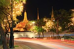 temple of the emerald buddha, the night, the light