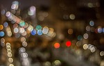 bokeh, city lights, night