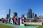 brisbane, sign, cityscape