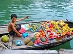 selling, fruits, boy