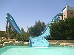 aqua park, slide, holiday