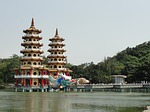 left camp, lotus lake, dragon tiger pagodas