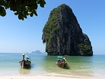 boats, spoke the beach, krabi