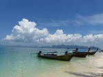 boats, beach poda, krabi