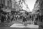 lisbon, people, street scene