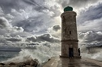 marseille, sea, waves