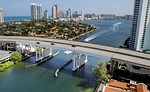 miami beach, ocean, bridge