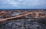 city, cityscape, dusk