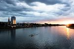 river, dusk, croatia