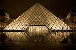 louvre, glass pyramid, paris