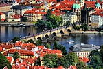 prague, bridge, water