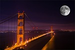 golden gate bridge, night, bridge
