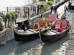 italy, venice, gondolas