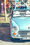 car, warsaw, blue