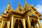 shwedagon pagoda, pagoda, popular