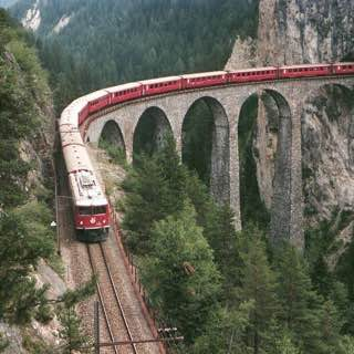 Landwasser Viaduct, france , alpes