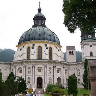 Ettal Abbey, germany , bavarianalps