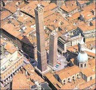 Two Towers of Bologna, italy , bologna