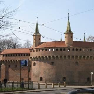 Kraków Barbican, poland , cracow