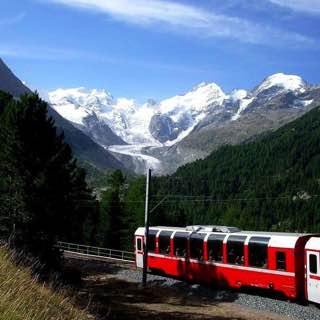 Bernina railway, switzerland , davos