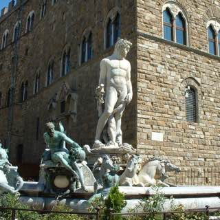 Fountain of Neptune, italy , florence