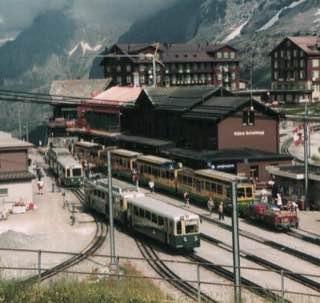 Wengernalp railway, switzerland , grindelwald