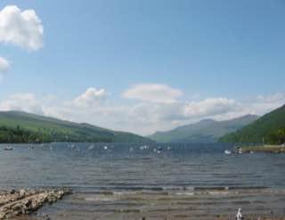 Loch Tay, scotland , luskentyrebeach