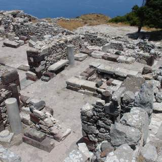 Ancient Thera, greece , santorini