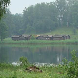 Āraiši lake dwelling site, latvia , turaida