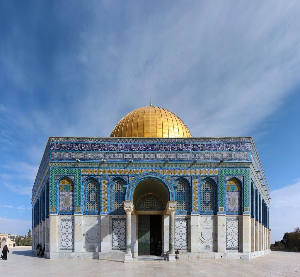 Изображение Купол Скалы вблизи Old City. islam jerusalem domeoftherock mosque templemount