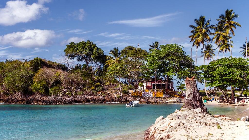 Imagen de Playa Rincon Rincon Beach. beach day restaurants playa republicadominicana caribe 2014 samana pwpartlycloudy