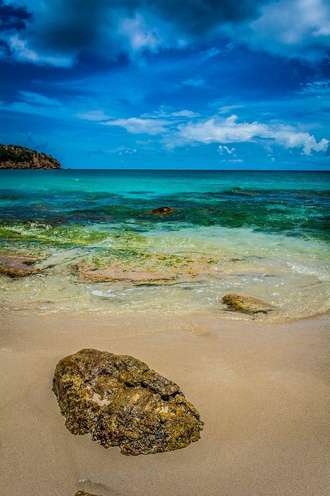 Hog John Beach の画像. ocean travel vacation sky beach water weather rock clouds landscape island photography sand nikon antigua caribbean saintjohn antiguaandbarbuda d7100 photographersontumblr