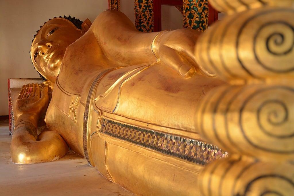 תמונה של Reclining buddha. travel nature thailand bangkok culture buddhism temples chiangmai krabi lanna tempel sukhothai lampang kolanta ayutthaya reizen 2014 arps paularps afsdxnikkor18140mm