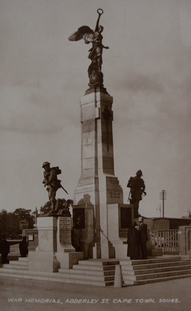 Image of Cenotaph. wings statues capetown victoria nike postcards gods valentines cenotaph mythology wingedvictory warmemorials adderleystreet vintagepostcards wingedstatues vernonmarch