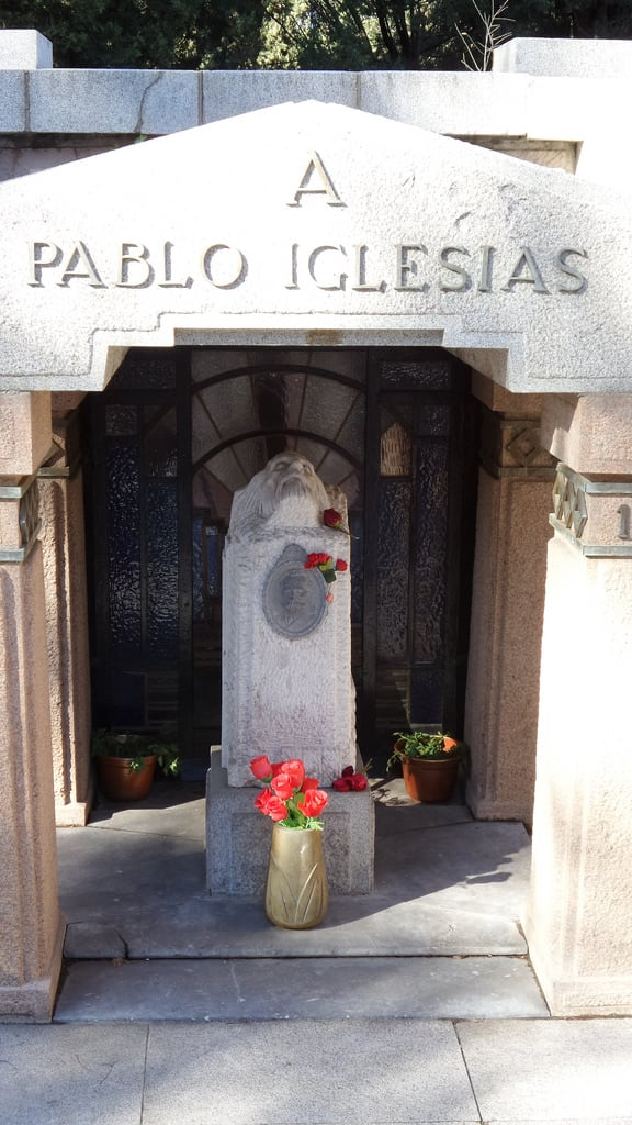 תמונה של Pablo Iglesias. madrid de la almudena cementerio laalmudena pabloiglesias