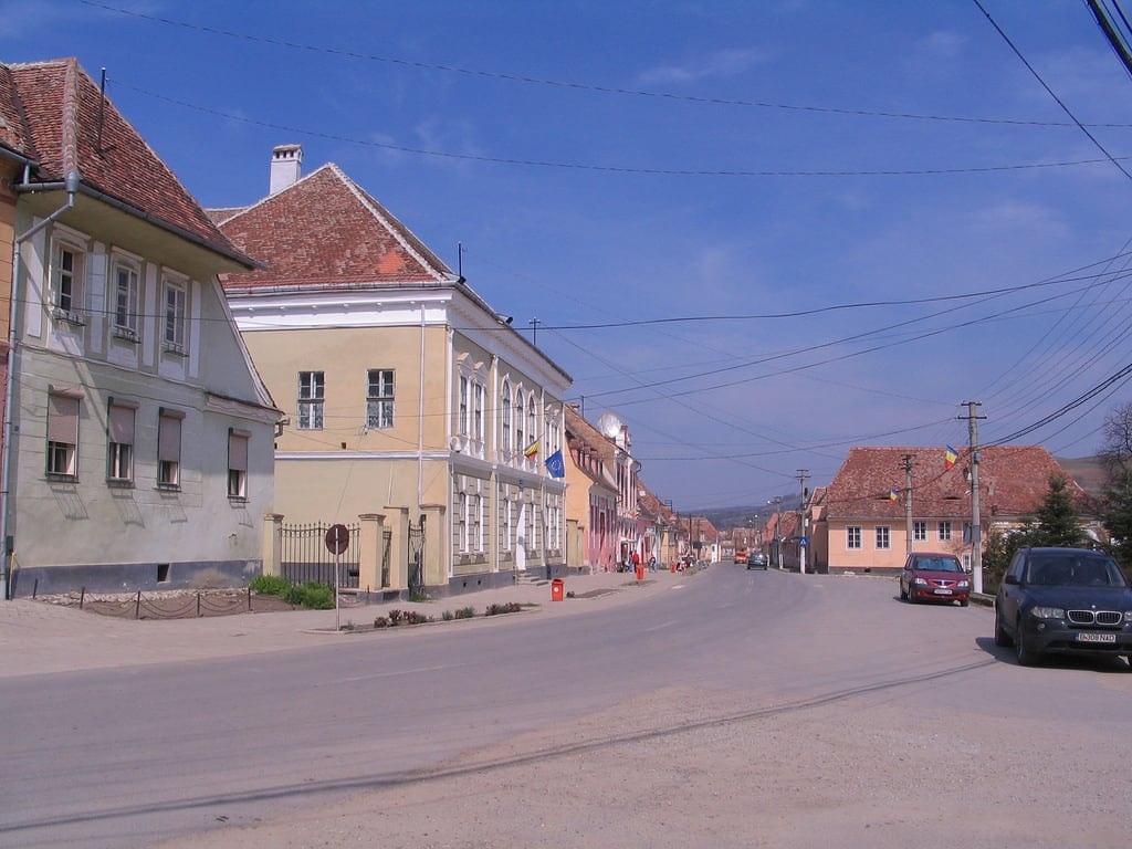 Image of Biertan. street romania transylvania biertan berethalom