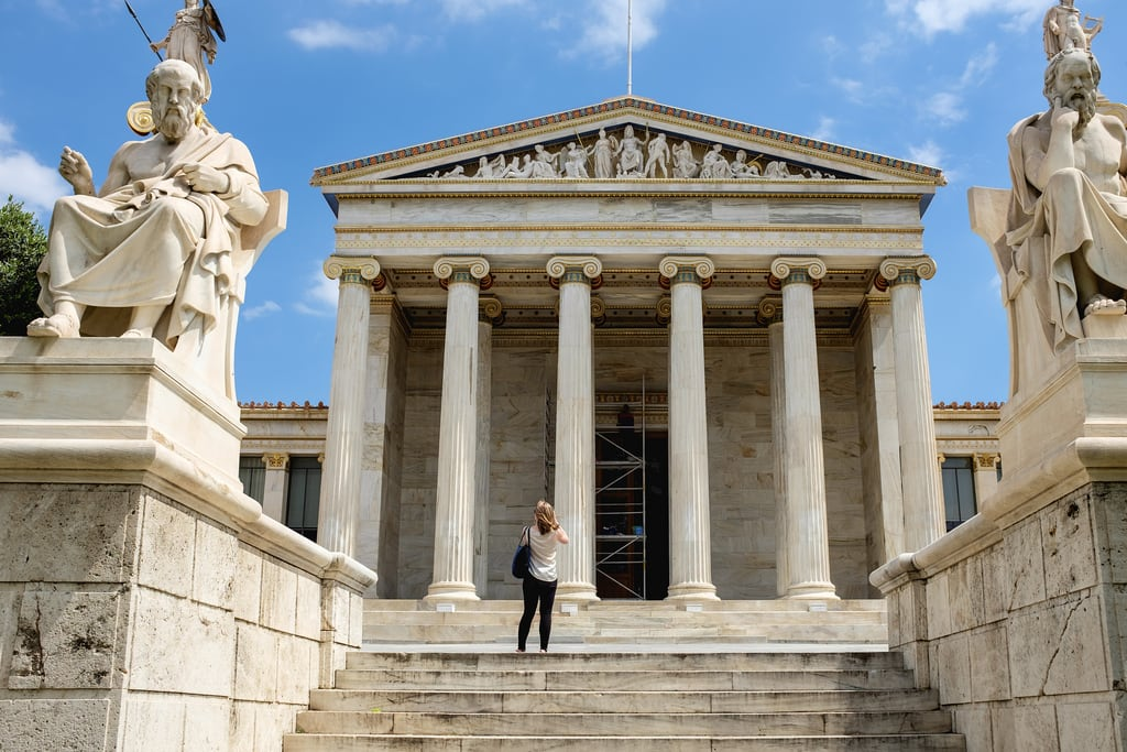 Image of Academy of Athens. academy athens greece girl ακαδημίααθηνών 2015 creativecommons