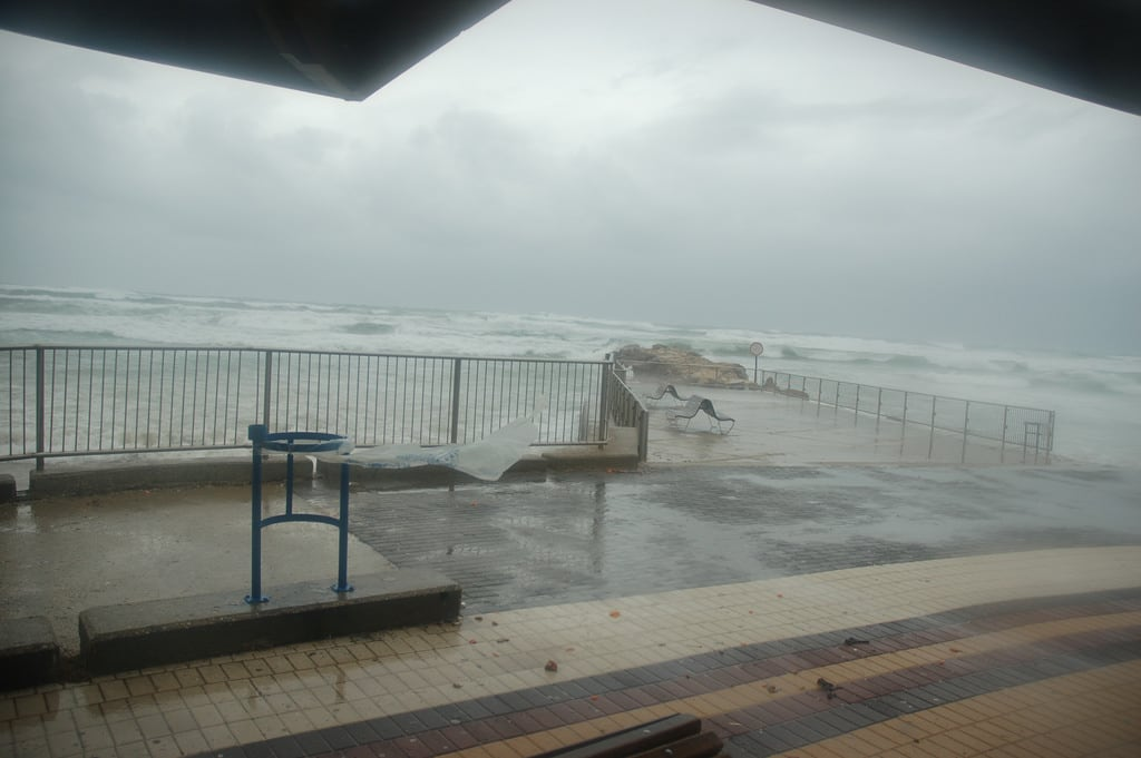 תמונה של Dado Beach (חוף דדו) Dado Beach. storm israel haifa ישראל חיפה סערה david55king