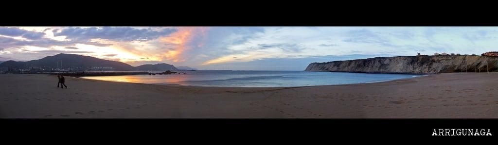 Bild von Arrigunaga. beach landscape mar seaside pano country photomerge bizkaia basque vasco pais panoramique getxo arrigunaga algorta euskal herria cantabrico itsasoa panoramika kantauri ltytr1