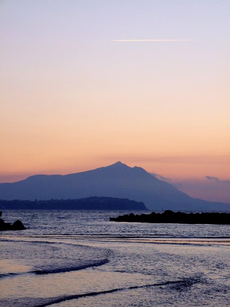 Изображение Spiaggia di Miseno. tramonto mare acqua
