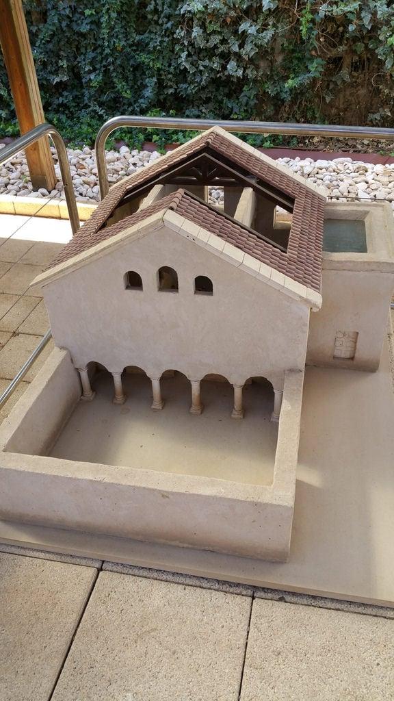 תמונה של בית הכנסת העתיק בית אלפא. israel model ancient synagogue kibbutzhefziba