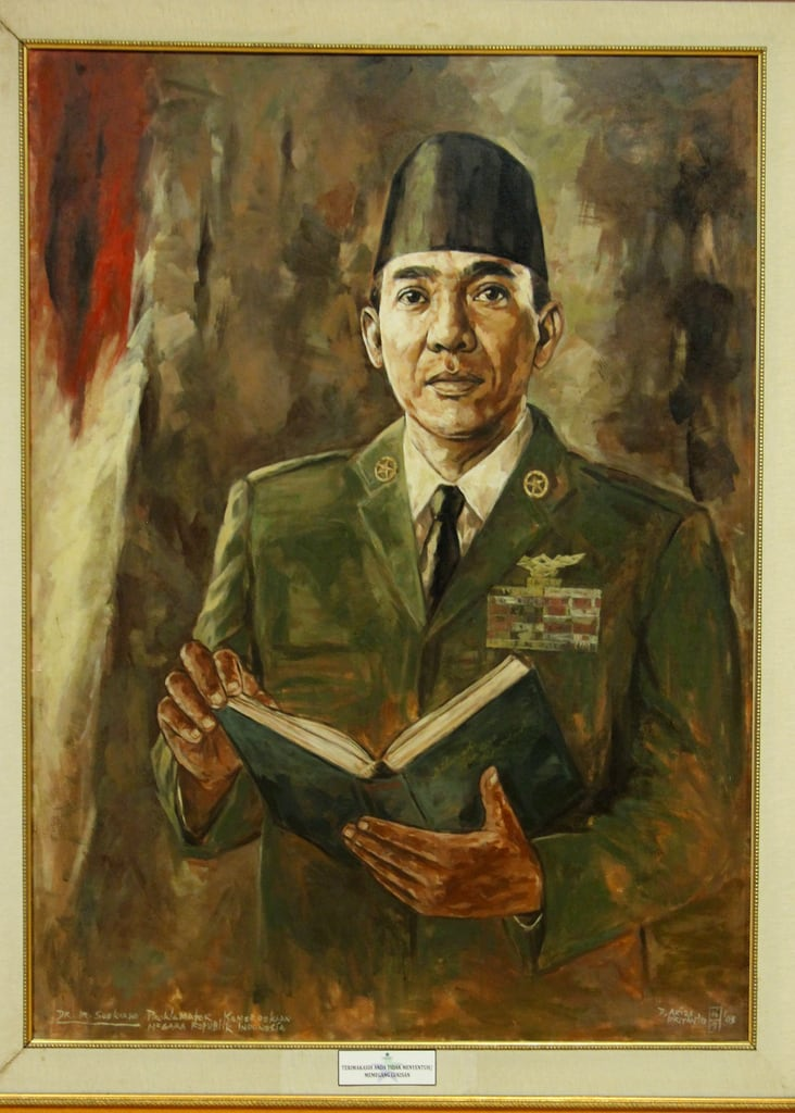 Εικόνα από Makam Soekarno. cemetery painting indonesia java memorial library president tomb picture first indoor east jawa timur sukarno lukisan soekarno makam perpustakaan blitar konomark makambungkarno