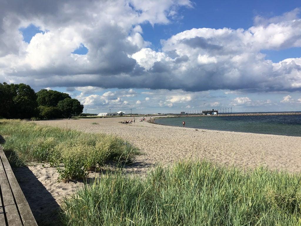 Image of Kastrup Søbad. trip travel sea beach copenhagen harbor baltic thesnail