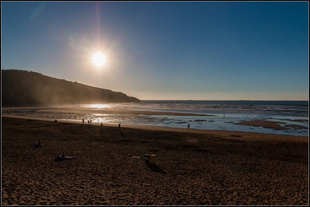 Playa de La Arena 長さ 1120 メートルのビーチ の画像. españa beach canon eos spain playa euskadi tupolev muskiz 70d