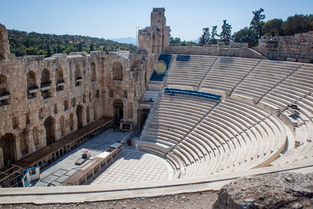 Image of Herodes Theatre. 2016 acropolis athens greece herodesatticus lightroom odeon theatre athina attica