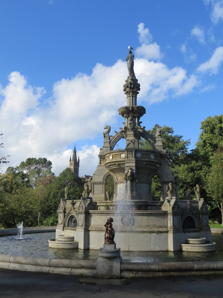 Изображение Stewart Memorial Fountain. glasgow scotland uk fountain kelvingrovepark publicpark westend
