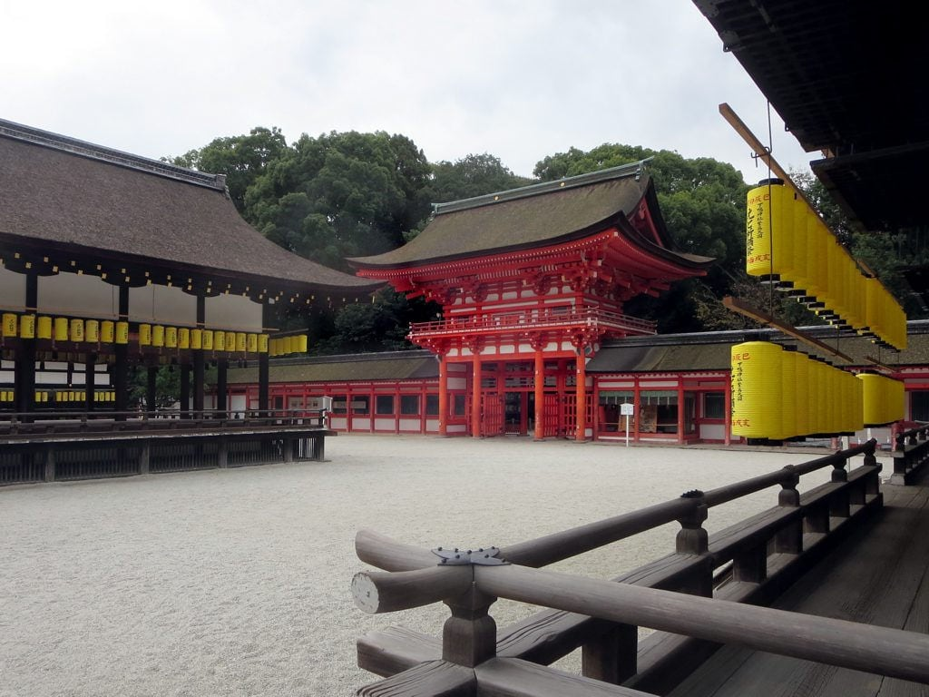 Bild von Shimogamo Shrine. shimogamojinja shrine kyoto japan