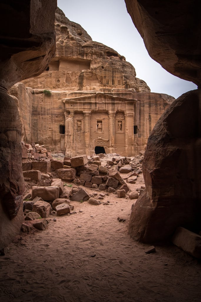 Image of Roman Soldier's Tomb. jordan nabatanean petra unescoheritage maangovernorate